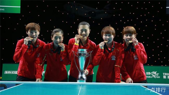 2019世界乒乓球排名 男(女)乒乓球最新排名