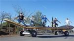世界上最大的滑板 长11米宽2.64米还没有人能驾驶